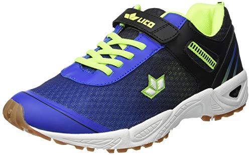 Lico BARNEY VS Unisex Kinder Multisport Indoor Schuhe, Blau/ Schwarz/ Lemon, 33 EU