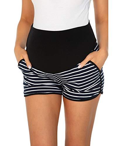 Love2Mi Umstandsshorts Damen Komfortable Kurze Umstandshose für Sommer