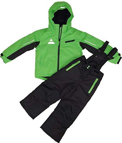 Maylynn Softshell Kinder Skianzug Schneeanzug 2-teilig grün/schwarz, Größe:134-140