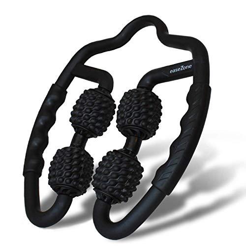 easeZone Muskel-Massageroller, Massage-Gerät & Faszienrolle mit Griff für Selbstmassage. Triggerpunkt &...