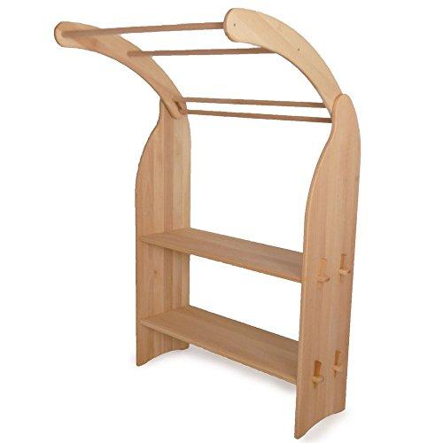 Holzspielzeug-Peitz Kinder-Spielständer 1011.1N - Zapfenverbindung - eine Seite - Massiv-Erlen-Holz