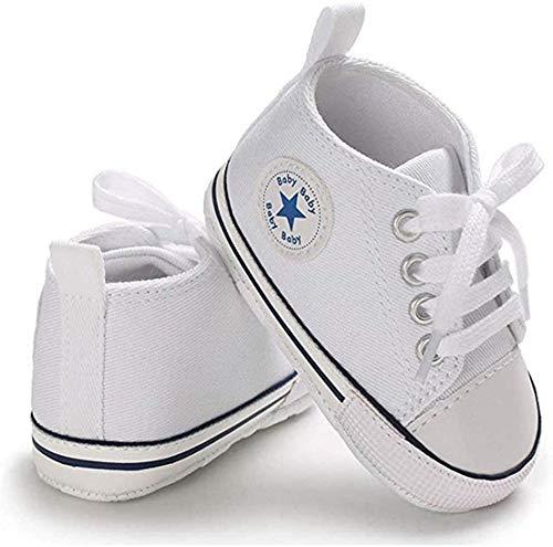 WangsCanis Babyschuhe Baby Junge Mädchen Schuhe Sneakers Weiche Leinwand mit Weichen und Rutschfesten Sohle...