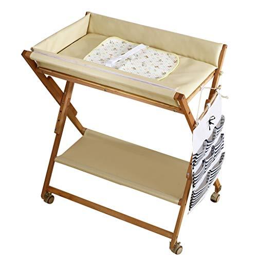 JINYANG JY Wickeltisch Mobile Baby Wickeltisch Pflegestation Touch Table Faltbarer Baby-Duschtisch Massivholz