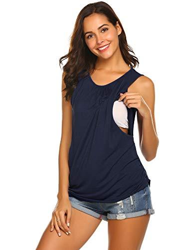Unibelle Damen Umstandsnachthemd Maternity Kleid Still-Nachthemd Stillkleid Nachthemd für Schwangerschaft und...