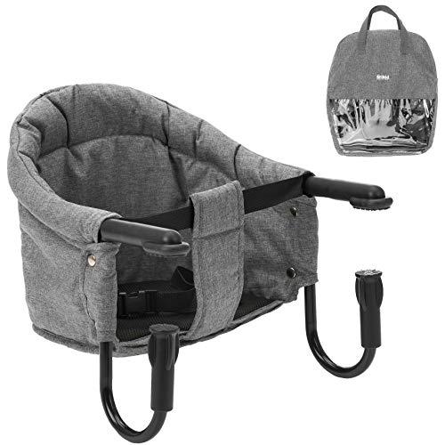 Fillikid Tischsitz Babysitz - faltbare Baby Sitzerhöhung/Booster Sitz mit Anti-Rutsch-Klemmen und Tragetasche...