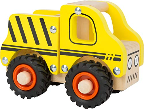 small foot 11096 Einsatzfahrzeug Baufahrzeug aus Holz, mit Ladefläche und gummierten Rädern, ab 18 Monaten...