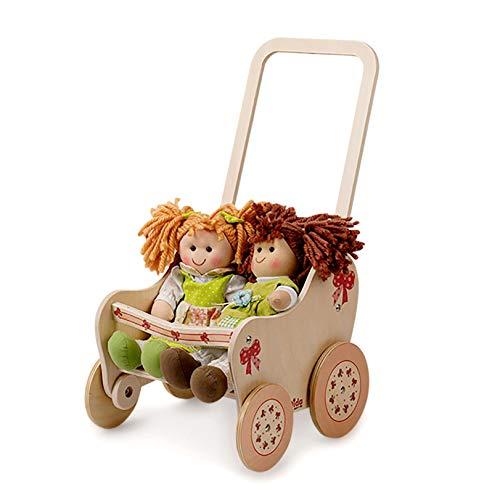 Dida - Der Puppenbuggy Aus Holz Dekoration Schleife Ist EIN Holzpuppenwagen Für Kleinkinder Nützlich Auch...