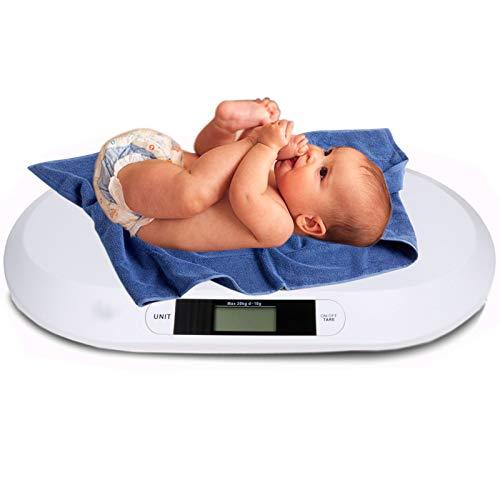 Kinderwaage Babywaage Digital mit LCD Display bis 20KG 56x26cm Waage Säuglingswaage Digitalwaage Stillwaage...