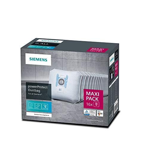 Siemens 16x Staubsaugerbeutel PowerProtect Typ G ALL, VZ16GALL, 99,9% Feinstaubfilterung, höhere...