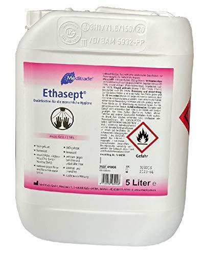 Meditrade Ethasept Desinfektionsmittel 5 Liter für Hand Hände, Flächen und Haut Hygiene,...