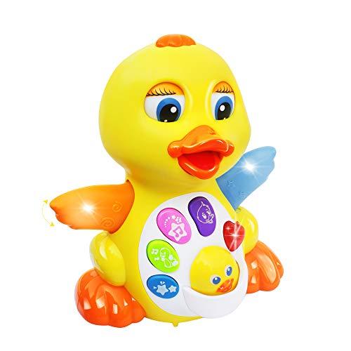 MOONTOY Tanzendes Musik Spielzeug - Musikalisches Lehrreiches Spielzeug für Mädchen Jungen - Tanzspaß Ente...