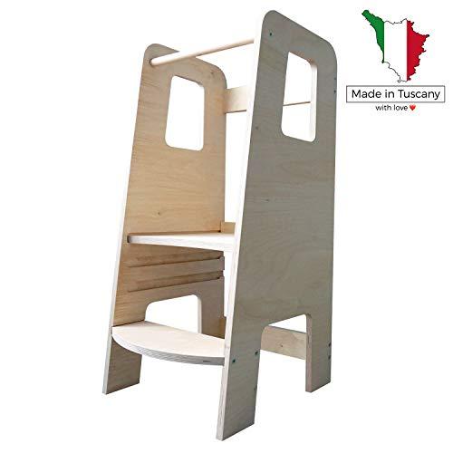 moblì | ùlly natural learning tower | der erste lernturm aus naturholz | verstellbare Fachböden | Entworfen...