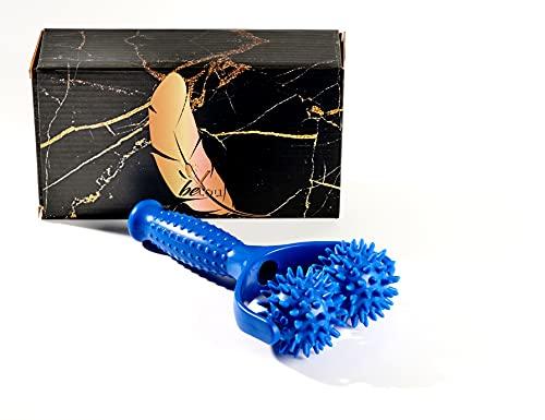 beYou® Massageroller mit Griff - [Bruchfest dank Carbon-Einsatz] Hochwertiger Premium Massageroller - inkl....