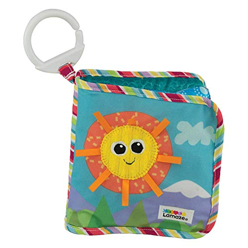 Lamaze Baby Spielzeug 'Entdeckungsbuch' Clip & Go, Hochwertiges Kleinkindspielzeug, Baby Buch Anhänger zur...