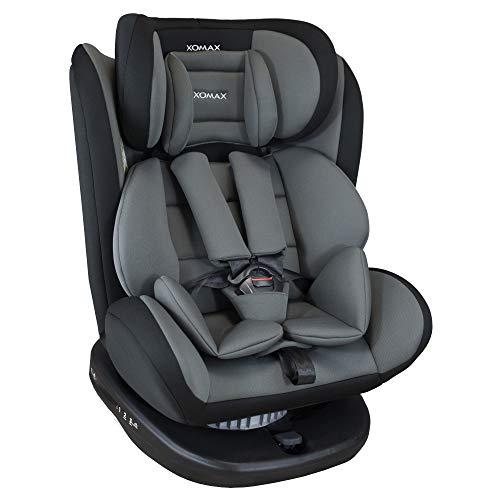 XOMAX 916 Kindersitz drehbar 360° mit ISOFIX und Liegefunktion I mitwachsend I 0-36 kg, 0-12 Jahre, Gruppe...