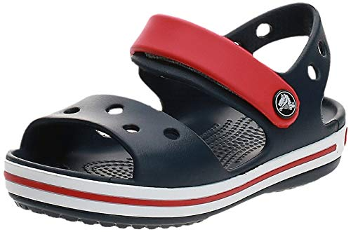 Crocs Crocband Sandal Kids, Unisex - Kinder Sandalen, Blau (Navy/Red), 27/28 EU