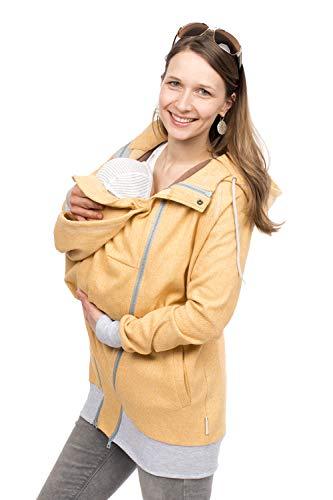 Viva la Mama - Maternityjacke Sweat Tragejacke Mama und Baby Einsatz Tragen - Cleo gelb - M