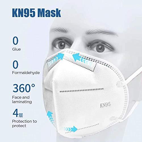 Tomashi KN95/FFP2 Schutzmasken mit 4 Schichten (Packung mit 5 Einheiten)