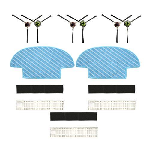 8 Teilig Für Ecovacs Slim Slim 2 Sweepers Robotic Saugroboter Ersatzteile Verschleißteile-Set Hepa Filter...