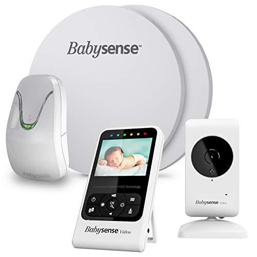 BabySense Baby-Atembewegung und Videomonitor - Modelle: 7 + V24R- Bundle Pack - 2 in 1