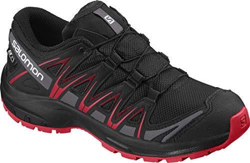 Salomon Kinder Sportschuhe, XA PRO 3D CSWP J, Farbe: schwarz/rot (Black/Black/High Risk Red), Größe: EU 35