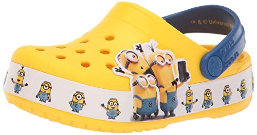 Crocs Unisex-Kinder Crocsfl Minions Multi K Clogs, Gelb (Yellow 730), 32/33 EU