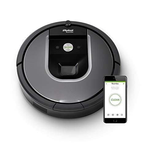 iRobot Roomba 960 der Volks-Saugroboter mit starker Saugkraft, 2 Multibodenbürsten, Navigation für mehrere...