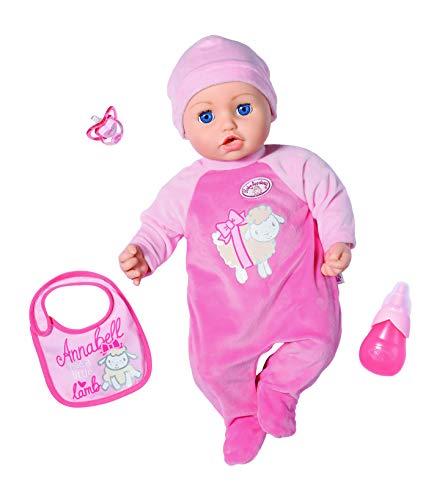 Baby Annabell Puppe mit Funktionen Annabell 43 cm, realistische Töne und Bewegung, weint, Kopf, witzig, 3...