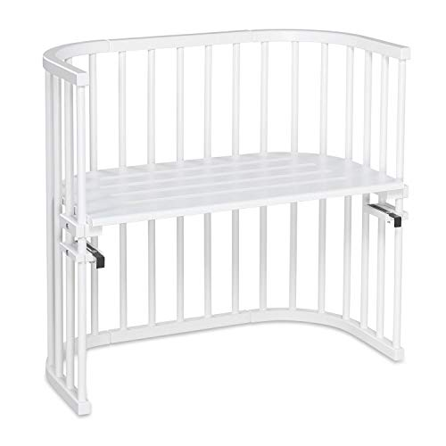 babybay Original Beistellbett aus massivem Buchenholz für Tag und Nacht I Kinderbett Höhe verstellbar &...