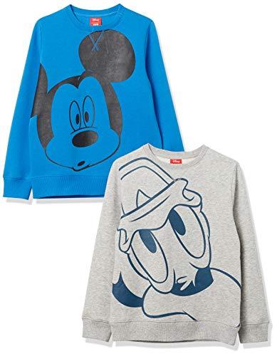 Spotted Zebra Disney Star Wars Marvel Fleece Crew Fashion-Sweatshirts, 2er-Pack Big Mickey, 4-5 Jahre