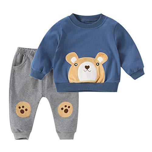 sunnymi Baby Jungen Bekleidungssets,1-5 Jahre Kleinkind Baby Kinder Jungen tragen T-Shirt Tops Sweatshirt...