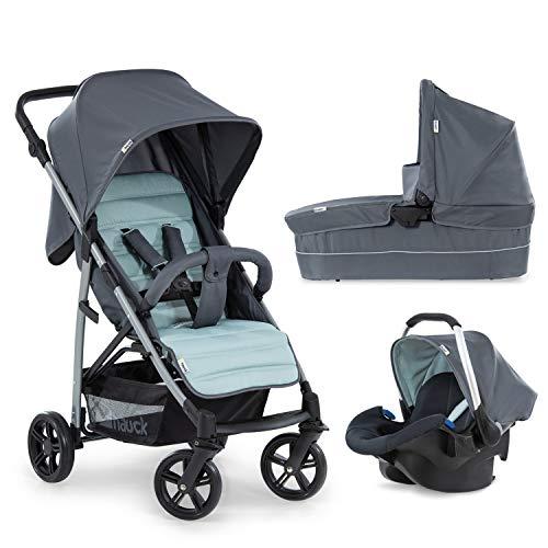 Hauck Kombi Kinderwagen Rapid 4 Plus Trio Set / für Babys ab Geburt / Wanne inkl. Matratze / Reise System mit...