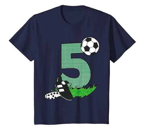 Kinder Geburtstagsshirt 5 Jahre Fussball T-Shirt 5. Geburtstag T-Shirt