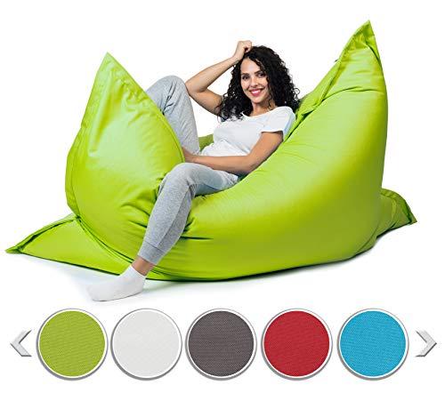 sunnypillow XL Sitzsack, Riesensitzsack Outdoor & Indoor 100 x 150 cm mit 140L Styropor Füllung Sessel für...
