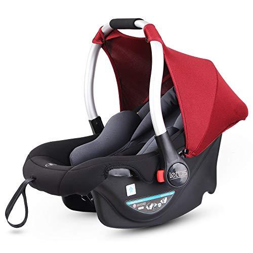 LETTAS Babyschale Baby-Autositz mit Sonnenverdeck Gruppe 0+ Kindersitz (0-13 kg), nutzbar ab der Geburt bis...