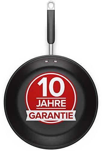 Pfanne 28cm - Für alle Herdarten - Antihaft Beschichtete Pfanne 28cm aus Edelstahl, Optimierte Griffe,...