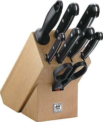 ZWILLING Messerblock, 9-tlg., Holzblock, Messer und Schere aus rostfreiem Spezialstahl/Kunststoff-Griff, Twin...