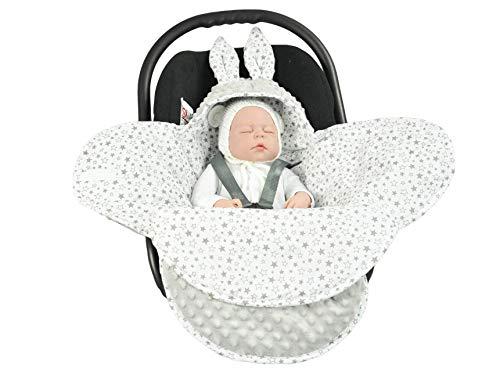 EliMeli Baby Einschlagdecke Babyschale Winter - Grau Mädchen Junge Decke Universal für Autositz, Kinderwagen...