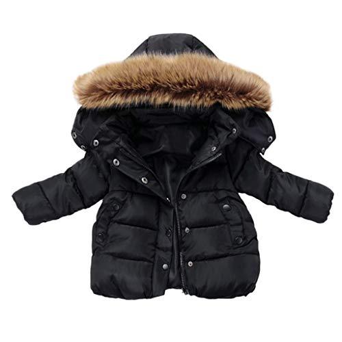 sunnymi Mäntel für Baby Jungen und Mädchen,0-5 Jahre Winterkind Kinder Einfarbige Hoodie...