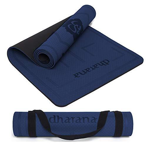 Dharana YogaMatte rutschfest -Yoga Matte Professionelle TPE - Dicke Gymnastik Matte Pilates Fitness Sport...
