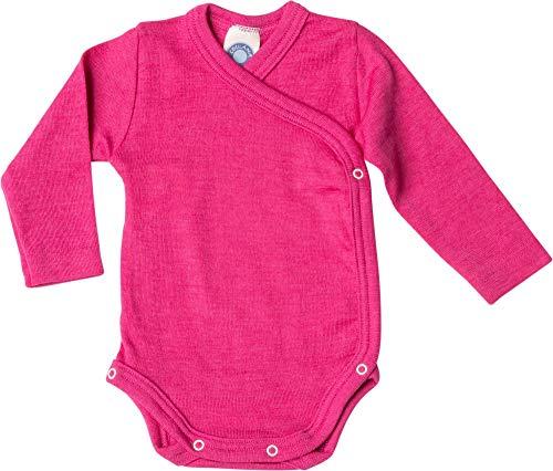 Cosilana Baby Wickelbody aus 70% Wolle und 30% Seide kbT (62-68, Pep-pink)