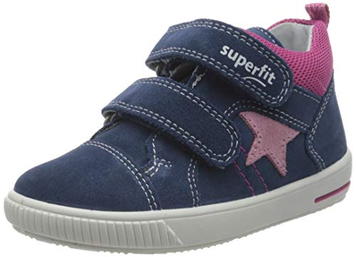 Superfit Baby Mädchen Moppy Lauflernschuhe Sneaker, Blau (Blau/Rosa 81), 27 EU