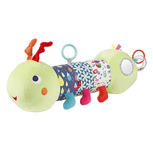 Fehn 055436 Krabbelrolle Raupe COLOR Friends – Krabbel-Hilfe im lustigen Raupen-Design mit Spielfunktionen...