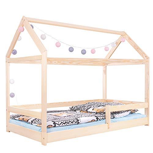 SPRINGOS Kinderbett|Haus-Optik Form|130x86x164 cm...