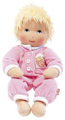 Heless 90 - Weichpuppe Baby Lotti, mit kuscheligem Strampler, ca. 32 cm groß, zum Kuscheln, Spielen und...