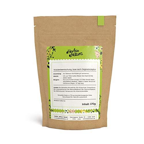 Herbis Natura Teemischung zur Unterstützung der Leberfunktion, loser Tee, Kräutermischung aus 88 %...