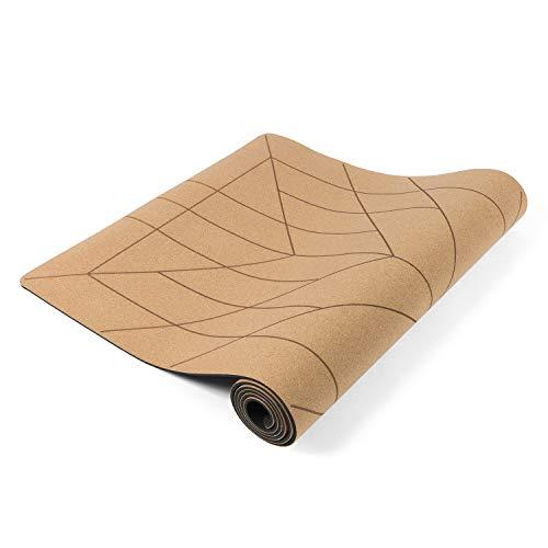 Lotuscrafts Yogamatte Cork - Rutschfeste Sweat Proof Oberfläche - 100% Recycelbare Materialien - Yoga Matte...