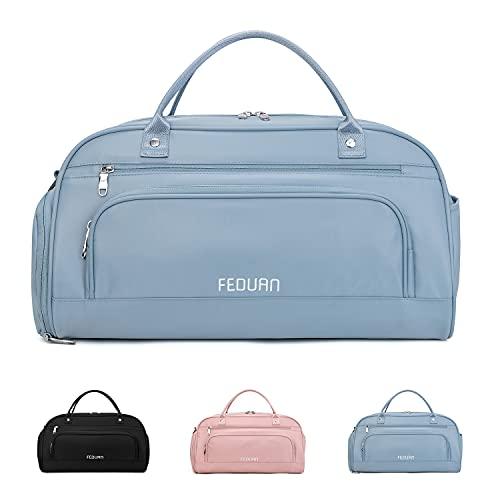 FEDUAN original hochwertig komfortable Sporttasche Reisetasche mit Nassfach Kliniktasche Shopping-Bag...