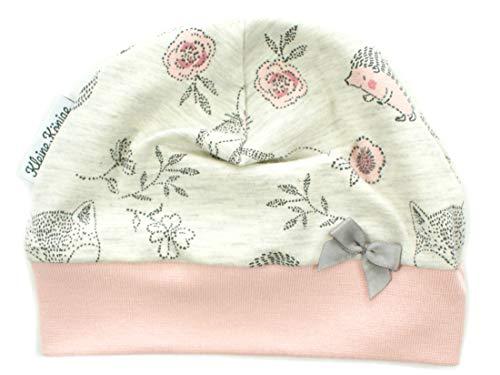 Kleine Könige Mütze Baby Mädchen Beanie · Modell Igel Cutie Pies, Altrosa · Ökotex 100 Zertifiziert ·...
