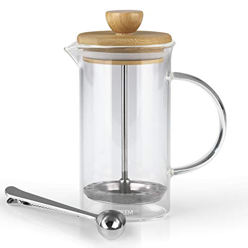 BEEM Coffee Press Kaffeebereiter - 0,35 l oder 1 L wählbar | 2-3 & 8 Tassen | French Press | Bambus |...